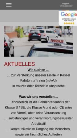 Vorschau der mobilen Webseite www.fahrschule-sellner.de, Fahrschule Sellner