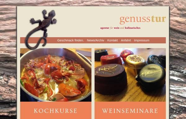 Vorschau von www.genusstur.de, Genusstur - Agentur für Wein und Kulinarisches