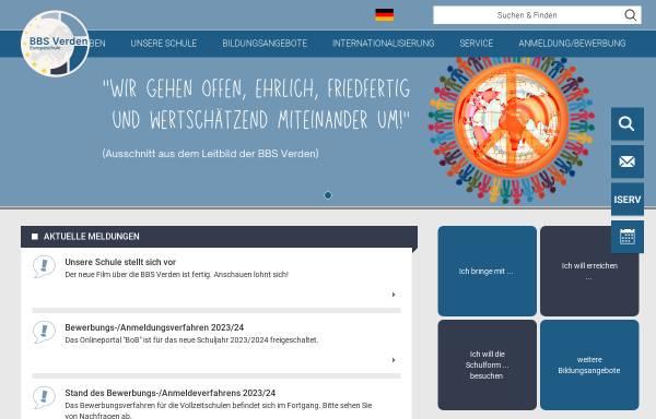 Vorschau von www.bbsverden.de, Berufsbildende Schulen Verden