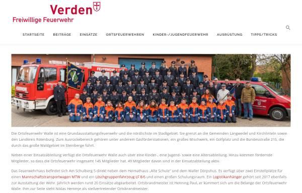 Vorschau von www.feuerwehr-walle.de, Freiwillige Feuerwehr Walle