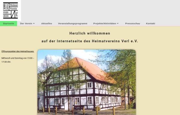 Vorschau von www.verlerland.de, Heimatverein Verl e.V.