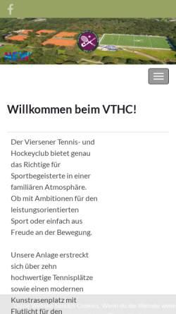Vorschau der mobilen Webseite www.vthc.de, Viersener Tennis und Hockey Club