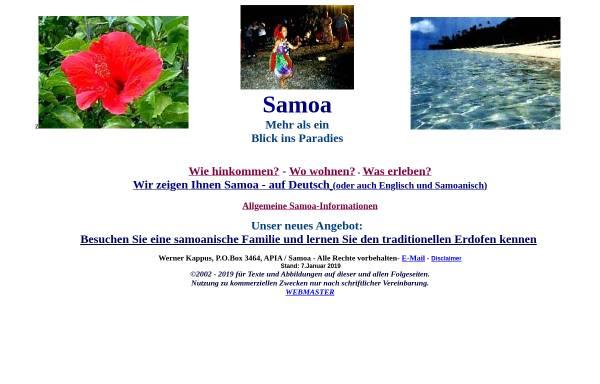 Vorschau von www.samoa-reisen.de, Samoa Reisen