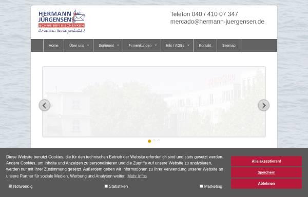 Vorschau von www.hermann-juergensen.de, Hermann Jürgensen Bürobedarf