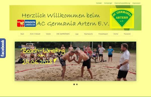Vorschau von www.ac-germania.com, AC Germania Artern e.V.
