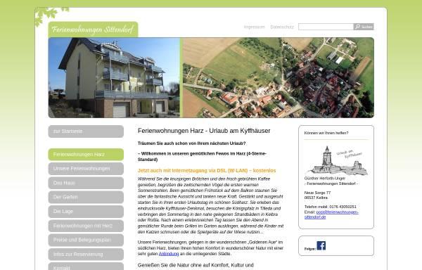 Vorschau von www.ferienwohnungen-sittendorf.de, Ferienwohnungen Unger
