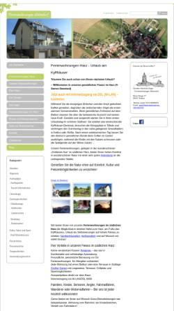 Vorschau der mobilen Webseite www.ferienwohnungen-sittendorf.de, Ferienwohnungen Unger