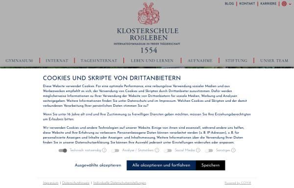Vorschau von www.klosterschule.de, Klosterschule Roßleben