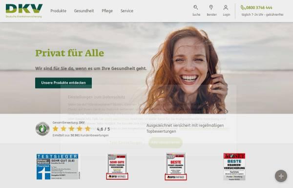 Vorschau von www.dkv.com, Deutsche Krankenversicherung AG (DKV)