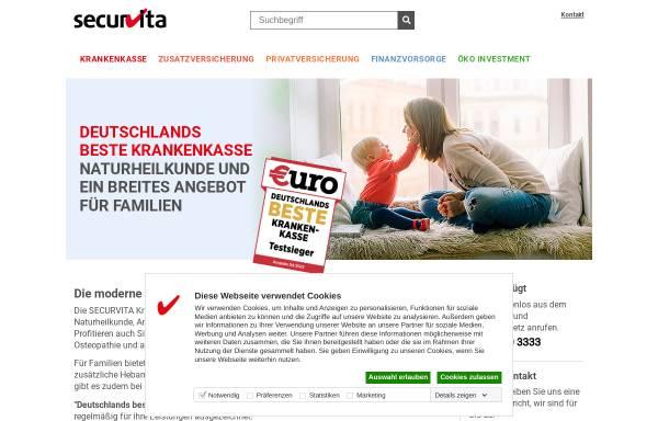 Vorschau von www.securvita.de, SECURVITA Gesellschaft zur Entwicklung alternativer Versicherungskonzepte mbH