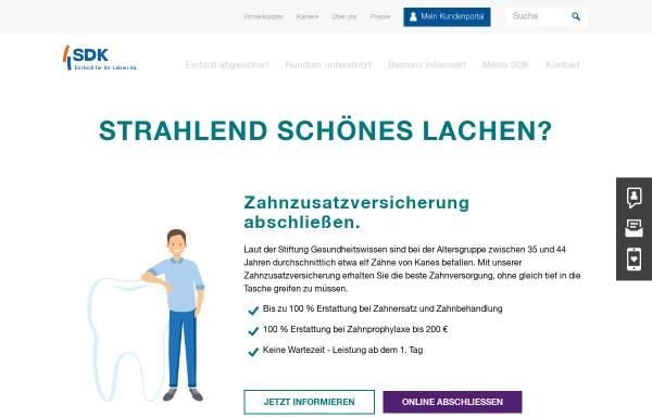 Vorschau von www.sdk.de, Süddeutsche Krankenversicherung a.G.