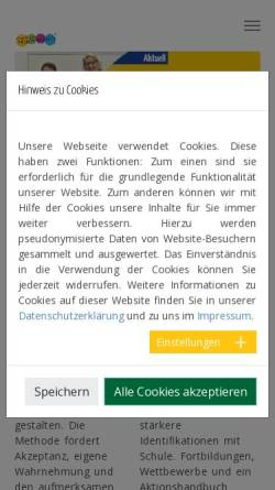 Vorschau der mobilen Webseite p21032.typo3server.info, Schule anders erleben