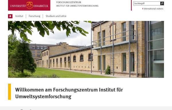 Vorschau von www.usf.uni-osnabrueck.de, Institut für Umweltsystemforschung und Studium der Systemwissenschaft