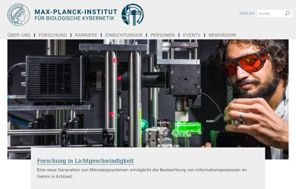 Vorschau von www.kyb.tuebingen.mpg.de, Max Planck-Institut für Biologische Kybernetik