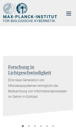 Vorschau der mobilen Webseite www.kyb.tuebingen.mpg.de, Max Planck-Institut für Biologische Kybernetik