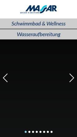 Vorschau der mobilen Webseite www.massar.de, Fritz Peter Massar GmbH