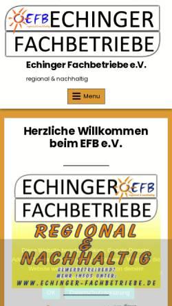 Vorschau der mobilen Webseite www.echinger-fachbetriebe.de, Echinger-Fachbetriebe e.V.