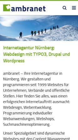 Vorschau der mobilen Webseite www.ambranet.de, Ambranet