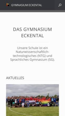 Vorschau der mobilen Webseite gymnasium-eckental.de, Gymnasium Eckental