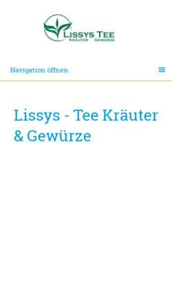Vorschau der mobilen Webseite www.lissys-shop.de, Lissys-Shop Jürgen Liskowskis