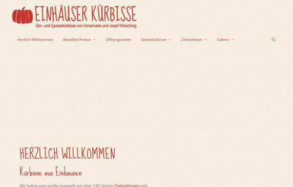 Vorschau von www.einhaeuser-kuerbisse.de, Einhäuser Kürbisse