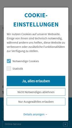 Vorschau der mobilen Webseite www.thueringen.de, Landwirtschaftsamt Bad Salzungen, Sitz Eisenach