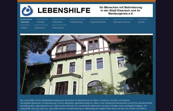 Vorschau von www.lebenshilfe-eisenach.de, Lebenshilfe des Wartburgkreises und Ortsvereinigung Eisenach e.V.