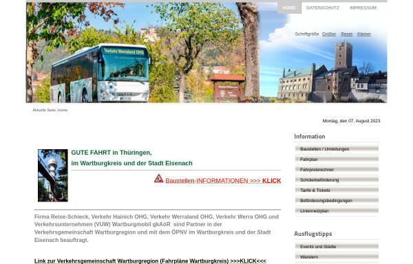 Vorschau von www.vgwak.de, Bus - Verkehrsgesellschaft Wartburgkreis mbH