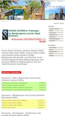 Vorschau der mobilen Webseite www.vgwak.de, Bus - Verkehrsgesellschaft Wartburgkreis mbH