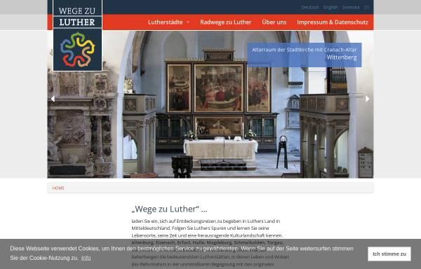 Vorschau von www.wege-zu-luther.de, Wege zu Luther
