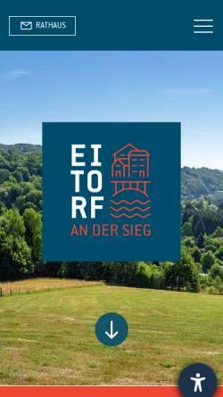 Vorschau der mobilen Webseite www.eitorf.de, Eitorf