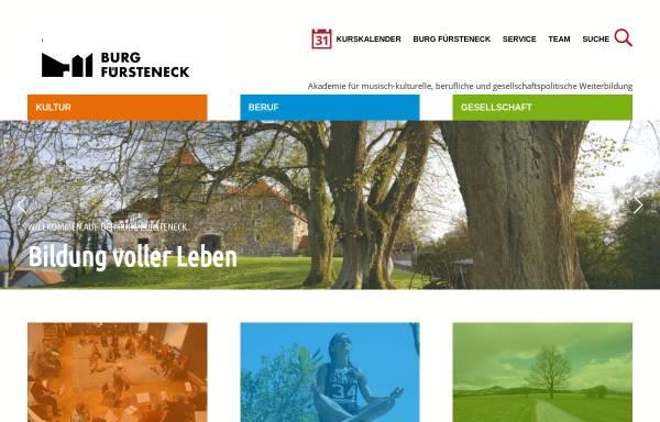 Vorschau von www.burg-fuersteneck.de, Burg Fürsteneck