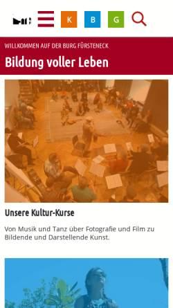 Vorschau der mobilen Webseite www.burg-fuersteneck.de, Burg Fürsteneck