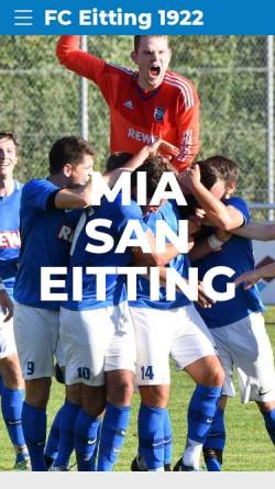 Vorschau der mobilen Webseite www.fceitting.de, FC Sportfreunde Eitting e. V.