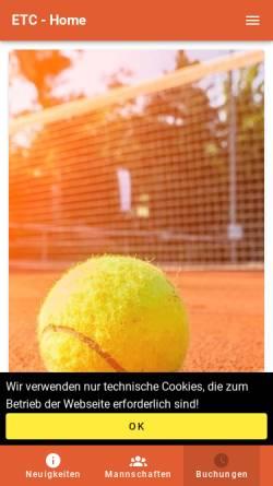 Vorschau der mobilen Webseite www.etc-ellerau.de, Ellerauer Tennis Club an der Krumbek e.V.