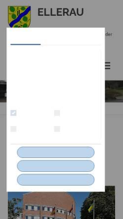 Vorschau der mobilen Webseite www.ellerau.de, Ellerau