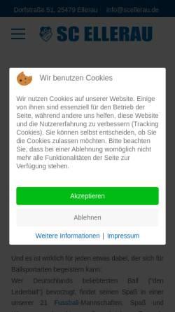 Vorschau der mobilen Webseite www.scellerau.de, SC Ellerau von 1946 e.V.