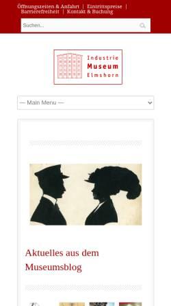 Vorschau der mobilen Webseite www.industriemuseum-elmshorn.de, Industriemuseum Elmshorn