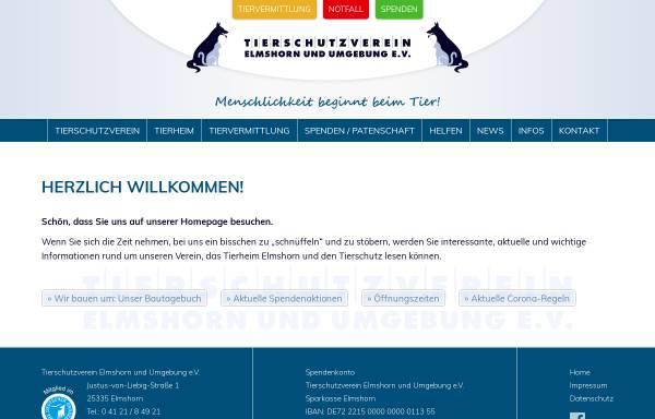 Vorschau von www.tierheim-elmshorn.de, Tierschutzverein Elmshorn u.U. e.V.