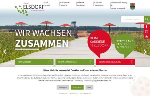 Vorschau von www.elsdorf.de, Gemeinde Elsdorf