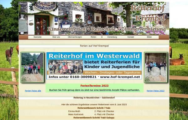 Vorschau von www.hof-krempel.net, Hof Krempel