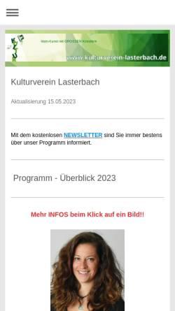 Vorschau der mobilen Webseite www.kulturverein-lasterbach.de, Kulturverein Lasterbach