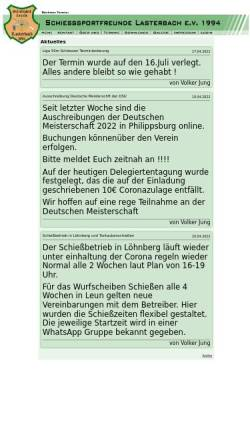 Vorschau der mobilen Webseite schiesssportfreunde.de, Schießsportfreunde Lasterbach 1994 e.V.