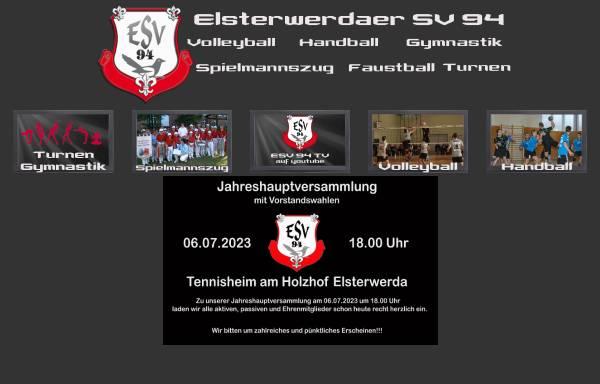 Vorschau von esv-94.de, Elsterwerdaer SV 94