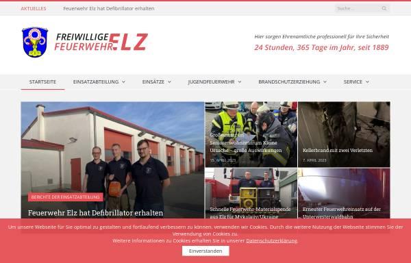 Vorschau von www.feuerwehr-elz.de, Freiwillige Feuerwehr Elz