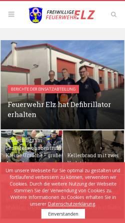 Vorschau der mobilen Webseite www.feuerwehr-elz.de, Freiwillige Feuerwehr Elz