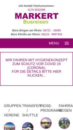 Vorschau der mobilen Webseite www.omnibus-schmidt.de, Omnibus Schmidt Busreisen