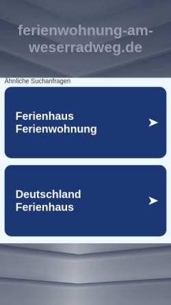 Vorschau der mobilen Webseite www.ferienwohnung-am-weserradweg.de, Ferienwohnung Kusch
