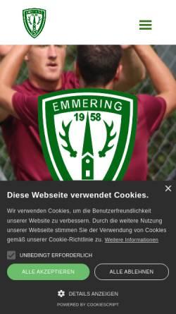 Vorschau der mobilen Webseite www.tsv-emmering.de, TSV Emmering e.V.