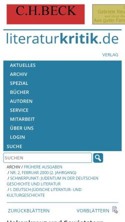 Vorschau der mobilen Webseite www.literaturkritik.de, Hakenkreuz und Sowjetstern